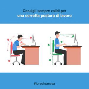 Corretta postura di lavoro